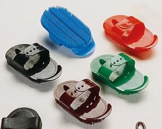 Piggbørste i plast Mini - Sort