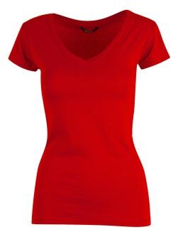 YOU Tenerife V-hals T-shirt - Rød