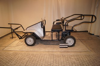 Firehjulsvogn trening med brems