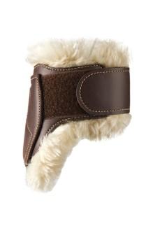Kentucky Sheepskin Leather Fetlock Boots Velcro Bakbeinsbelegg - Brun