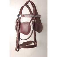 Ideal Luxe Leather Hodelag // Brun m/skylapper