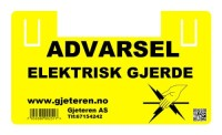Advarsel elektriskgjerde skilt