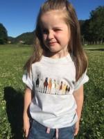 Skoies T-skjorte Barn m/motiv Lysgrå