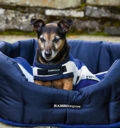 Rambo Deluxe Dog Rug Witney Navy